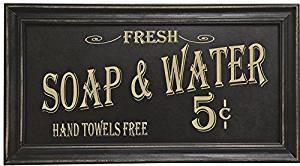 Vintage Bath Advertising Wall Art   Americana Collection   Bathroom Laundry Room Decor   7 1/2 x 14 Inch
